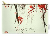 Red Blossom Tree On Handmade Paper Carry-all Pouch