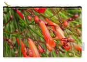 Red Blossoms Of A Firecracker Plant Carry-all Pouch