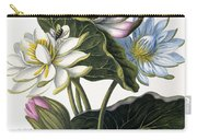 Red, Blue, And White Lotus Flowers Carry-all Pouch