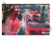 Red Blue Black Abstract Carry-all Pouch