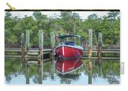 Red Boat Docked Florida Carry-all Pouch