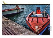Red Boats At Blue Pier Carry-all Pouch