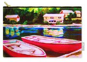 Red Boats At The Lake Carry-all Pouch