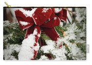 Red Bow On Pine Bough Carry-all Pouch