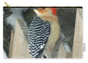 Red Breasted Woodpecker On Fence Carry-all Pouch