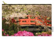 Red Bridge And Blossoms Carry-all Pouch