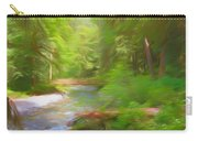 Red Bridge In Green Forest Carry-all Pouch