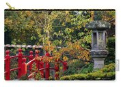 Red Bridge & Japanese Lantern, Autumn Carry-all Pouch
