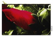 Red Bud On Green Background Carry-all Pouch