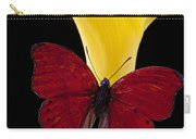 Red Butterfly And Calla Lily Carry-all Pouch