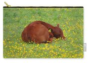 Red Calf In The Buttercup Meadow Carry-all Pouch