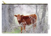 Red Calf In Winter Brush Carry-all Pouch