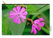 Red Campion - Fairy Flower. Carry-all Pouch