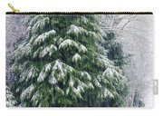 Red Cedar And Snow Carry-all Pouch