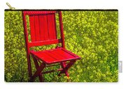 Red Chair Amoung Wildflowers Carry-all Pouch