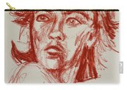 Red Charcoal Sketch 6481 Carry-all Pouch