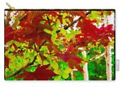 Red Chinese Maple Leaf's Carry-all Pouch