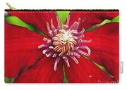 Red Clematis Carry-all Pouch