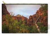 Red Cliffs Mountains Zion National Park Utah Usa Carry-all Pouch