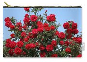 Red Climbing Roses Carry-all Pouch