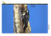 Red Cockaded Woodpecker Mother Feeding Carry-all Pouch