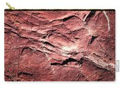 Red Colored Limestone With Grooves Carry-all Pouch