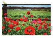Red Corn Poppies At The Fence Carry-all Pouch