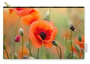 Red Corn Poppy Flowers 06 Carry-all Pouch