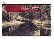 Red Covered Bridge In Winter Carry-all Pouch