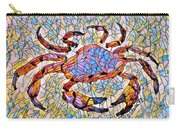 Red Crab Stained Glass Carry-all Pouch