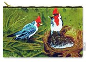 Red-crested Cardinal Birds #77 Carry-all Pouch