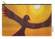 Red Crow Repulsing The Monkey Original Painting Carry-all Pouch