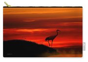 Red Crowned Crane At Dusk Carry-all Pouch