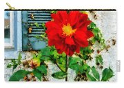Red Dahlia By Window Carry-all Pouch