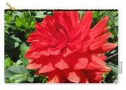 Red Dahlia In The Green Carry-all Pouch