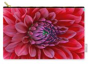 Red Dalia Up Close Carry-all Pouch