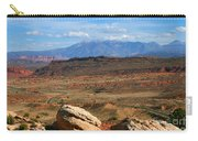 Red Desert With La Sal Mountains Carry-all Pouch
