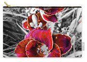 Red Double Lily Carry-all Pouch