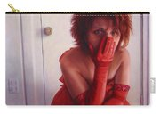 Red Dress Carry-all Pouch by James W Johnson