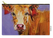Red Earring Cow Carry-all Pouch