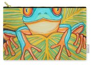 Red Eyed Tree Frog And Dragonfly Carry-all Pouch