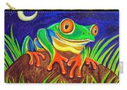 Red-eyed Tree Frog And Starry Night Carry-all Pouch