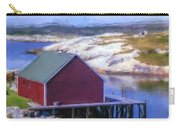 Red Fishing Shed On The Cove Carry-all Pouch