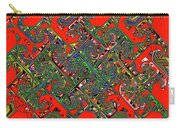 Red Five Wave Abstract Carry-all Pouch