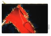 Red Flag On Black Background Carry-all Pouch