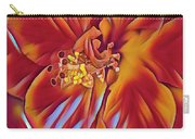 Red Flame Hibiscus Carry-all Pouch