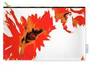Red Floating Florals Carry-all Pouch