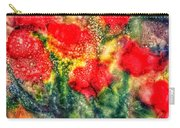 Red Floral Abstract Carry-all Pouch