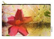 Red Floral Grunge Carry-all Pouch