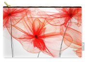 Red Floral - Red Modern Art Carry-all Pouch